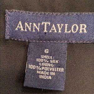 Ann Taylor Tops - Ann Taylor black beaded Silk cami 6